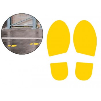 Pictograma Zona de Passagem Amarelo 2 unidades