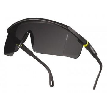 256a05ecee67c Óculos de Proteção Policarbonato Mono bloco Fumados Cinza-Amarelas UV400