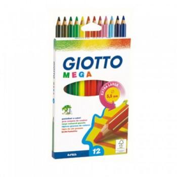 Lápis de Cor Giotto Com 12 Mega