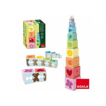 Jogo Didáctico Cubos empilháveis 1-10