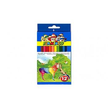 Lápis de Cor Com 12 Comprido Flamingo