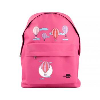 Mochila Escolar Infantil 380x280x120mm Balões Rosa