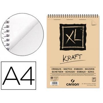 Bloco de Desenho A4 60 Folhas 90Gr Esboço Xl Kraft Canson