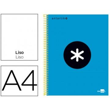 Caderno A4 Espiral 120Fls 100gr Liso 5 Bandas Capa Dura Azul