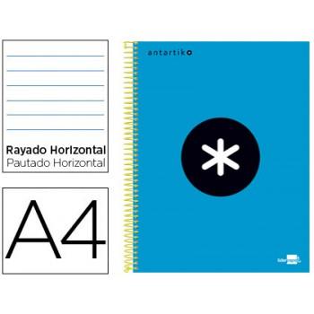 Caderno A4 Espiral 120Fls 100gr Pautado 5 Bandas Capa Dura Azul