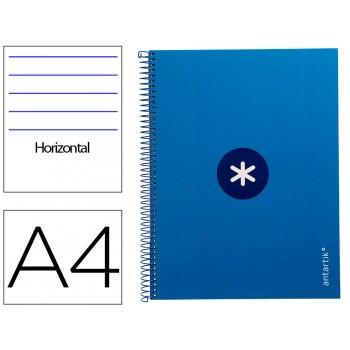 Caderno A4 Espiral 80 Folhas 90gr 4 Furos Capa Cartão Pautado Azul