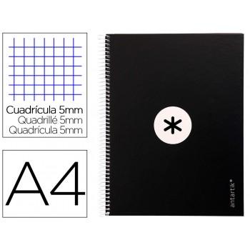 Caderno A4 Espiral 80 Folhas 90gr 4 Furos Capa Cartão Xadrez Preto