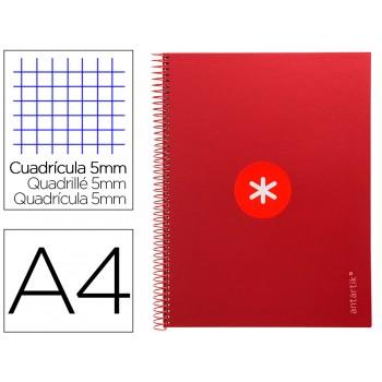 Caderno A4 Espiral 80 Folhas 90gr 4 Furos Capa Cartão Xadrez Vermelho