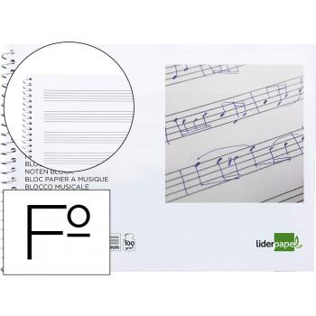 Caderno de Música Espiral Fólio Pentagrama 20 Folhas 100 gr Ao Baixo