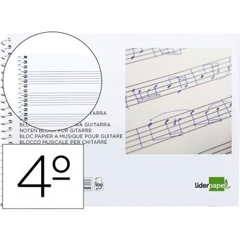 Caderno de Música Espiral para Guitarra 20 Folhas 100 gr Ao Baixo