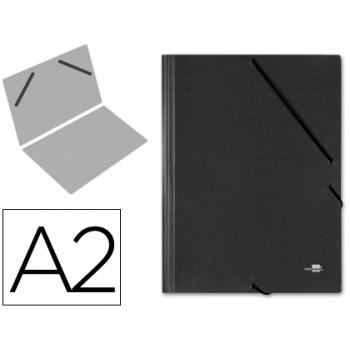 Capa A2 Com Elásticos Cartão Compacto Preta