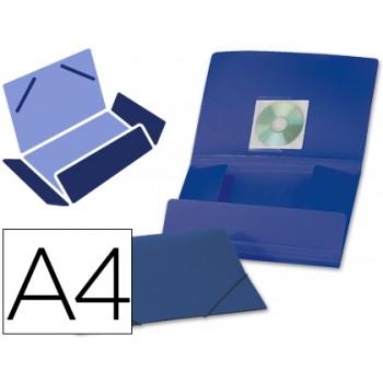 Capa A4 Com Elásticos Plástico PP 400 Microns Opaca Azul