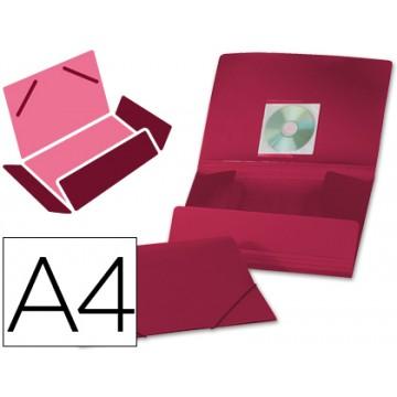Capa A4 Com Elásticos Plástico PP 400 Microns Opaca Vermelha