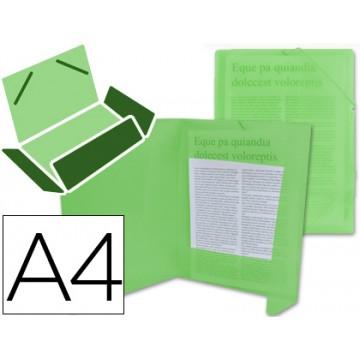 Capa A4 Com Elásticos Plástico PP 400 Microns Translúcido Verde