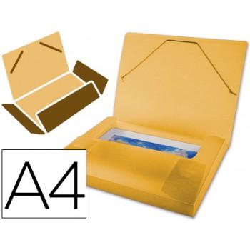 Capa A4 Com Elásticos Plástico PP 700 Microns Lombada Rígida Laranja Beautone
