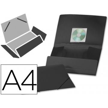 Capa A4 Com Elásticos Plástico PP 400 Microns Opaca Preta