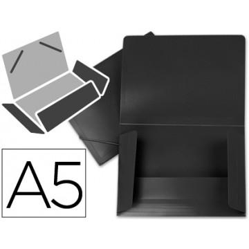 Capa A5 Com Elásticos Plástico PP 400 Microns Opaca Preta