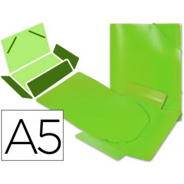 Capa A5 Com Elásticos Plástico PP 400 Microns Translúcido Verde