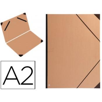 Capa A2 Com Elásticos Cartão kraft Vergê com Lombada Clairefontaine
