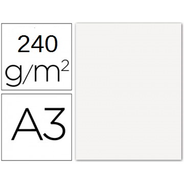 Cartolina A3 240Grs Branca 100 Unidades