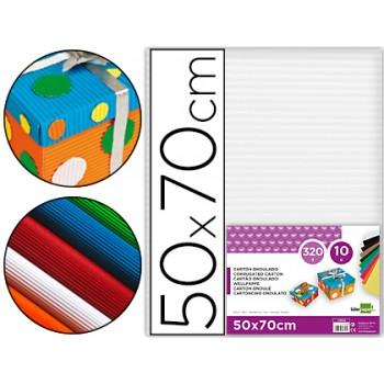 Cartão Ondulado 320gr 50x70cm Branco Pack 10 Unidades