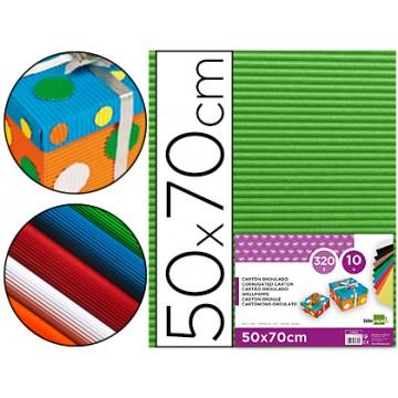 Cartão Ondulado 320gr 50x70cm Verde Pack 10 Unidades