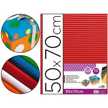 Cartão Ondulado 320gr 50x70cm Vermelha Pack 10 Unidades