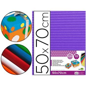 Cartão Ondulado 320gr 50x70cm Violeta Pack 10 Unidades