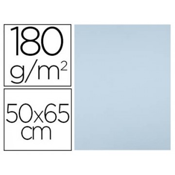 Cartolina 50X65cm 180Grs Azul Celeste 25 Unidades
