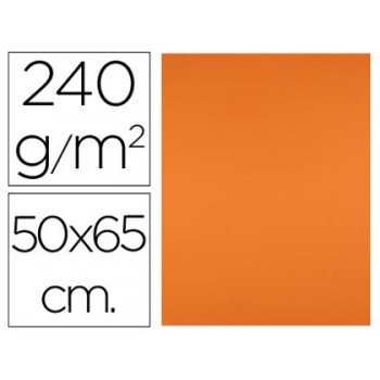 Cartolina 50X65cm 240Grs Laranja 25 Unidades