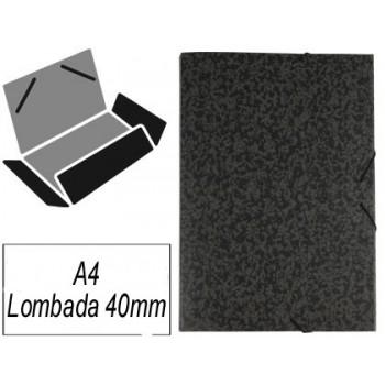 Capa A4 Com Elásticos Marmoreada Lombada 40mm