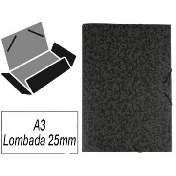 Capa A3 Com Elásticos Marmoreada Lombada 25mm
