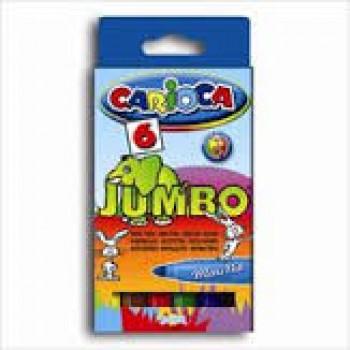 Marcador de Cor Jumbo Carioca Com 6 Unidades