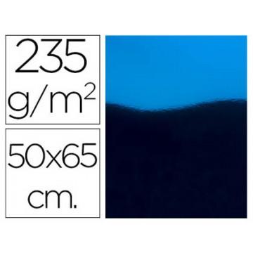 Cartolina Metalizada 50X65cm 235Grs Azul 10 Unidades
