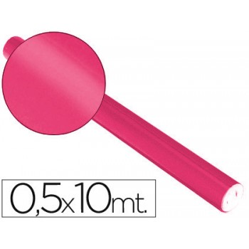 Papel Metalizado Rolo 50cmx10mt 65gr Rosa Sadipal