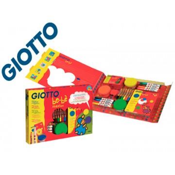 Conjunto Giotto Bebe Maxi Marcadores, Lápis, Pasta Modelar e Caderno