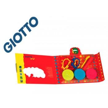 Pasta de Modelar 6x100gr  Maxi com Acessórios Giotto Bebé
