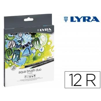 Marcador Aqua Brush Duo 12 Cores Sortidas Lyra