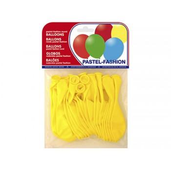 Balões Redondos Pastel Amarelo 20 Unidades