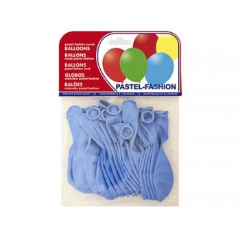 Balões Redondos Pastel Azul Celeste 20 Unidades