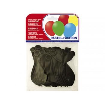 Balões Redondos Preto 20 Unidades