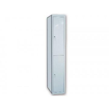 Armário Metálico Extensão 50x180x40cm 2 Porta Com Chave Cinza Ar Storage