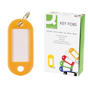 Porta Chaves com Etiqueta Plástico Amarelo