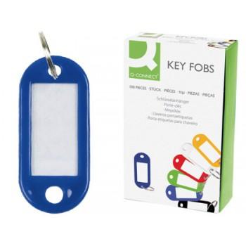 Porta Chaves com Etiqueta Plástico Azul