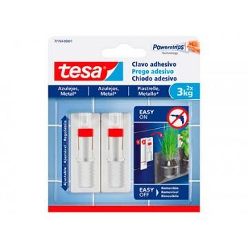 Cabide Adesivo Ajustável Para Azulejos Ate 3kg Tesa