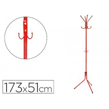 Cabide Metálico Vermelho 8 Suportes 173x51cm Q-Connect