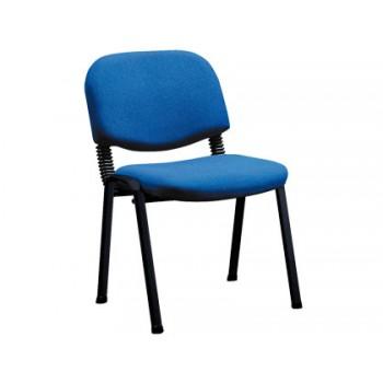 Cadeira De Escritório Revestida a Tecido Azul