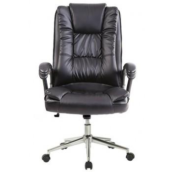 Cadeira de Direcção com Encosto Alto DUKE-ASNE Pele Sintética Preto