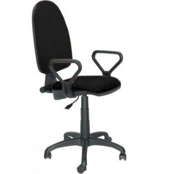 Cadeira de Escritório Giratória Braços PRE50-NE Tecido A1 Preto