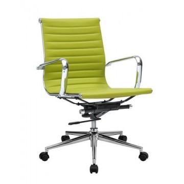 Cadeira De Escritório Pele Sintética Verde Philip-G-Ve